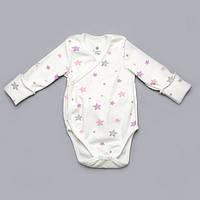 Боди для девочки Модный карапуз 301-00055 молочный с розовым 56