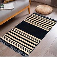 Двосторонній килимок Izzihome Lara LR02 Siyah Sari розмір 60х90 см