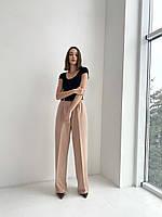 Брюки Палаццо со стрелками женские широкие брюки