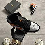 Nike Air Jordan 1 White Black Orange (Белый), фото 3