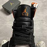 Nike Air Jordan 1 White Black Orange (Белый), фото 4