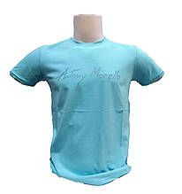 Мужская футболка Antony Morello голубая