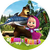 Вафельная картинка для тортов Modecor Маша и Медведь 23