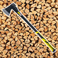 Топор 1500 г, ручка из фибергласса для рубки, колки и тески древесины. HTools, 05K604