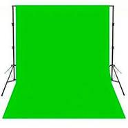 "КОМПЛЕКТ тканевый зеленый фон ""Хромакей"" (3х3м) с держателем h 2.4м фона ""Ворота"" DNPV 2433, фото 2"