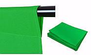 """КОМПЛЕКТ тканинний зелений фон """"Хромакей"""" (3х3м) з тримачем h 2.4 м фону """"Ворота"""" DNPV 2433, фото 5"""