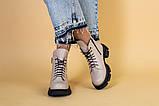 Ботинки женские кожаные бежевые демисезонные, фото 2