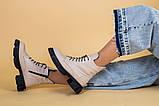 Ботинки женские кожаные бежевые демисезонные, фото 6