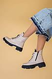 Ботинки женские кожаные бежевые демисезонные, фото 8