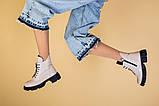Ботинки женские кожаные бежевые демисезонные, фото 9
