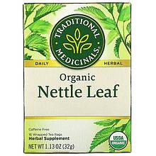 """Чай из листьев крапивы Traditional Medicinals """"Organic Nettle Leaf"""" без кофеина (16 пакетиков / 32 г)"""