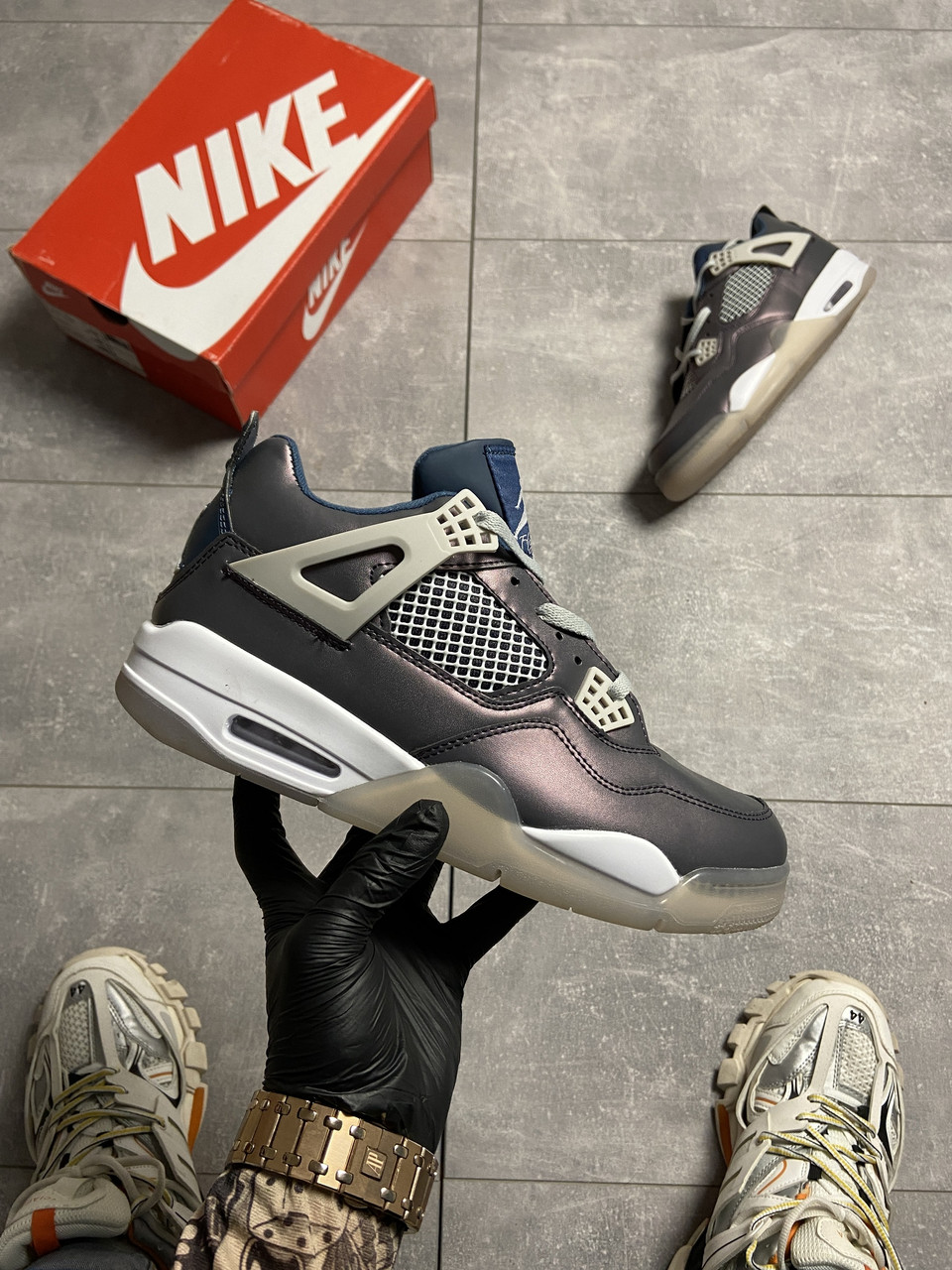Nike Air Jordan 4 Fossil (Фиолетовый)