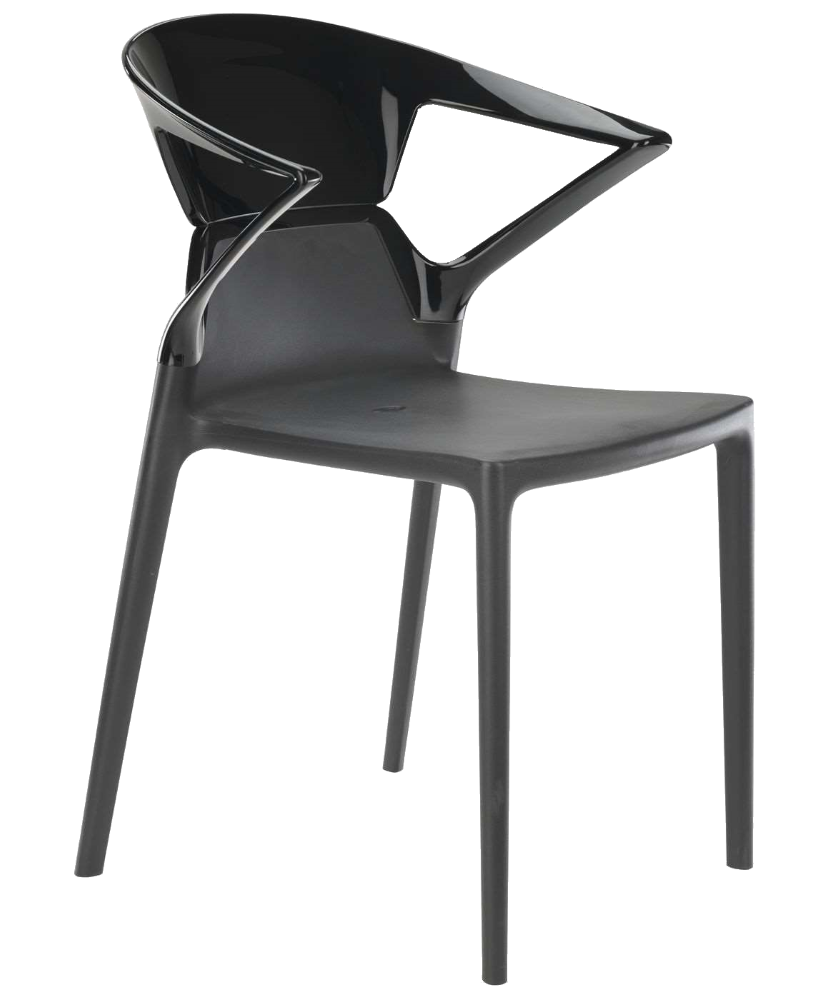 Кресло Papatya Ego-K антрацит сиденье, верх черный