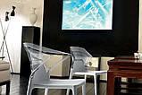 Кресло Papatya Ego-K черное сиденье, верх прозрачно-синий, фото 2