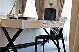 Кресло Papatya Ego-K черное сиденье, верх прозрачно-синий, фото 3