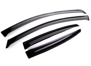 Дефлектори вікон вітровики Mitsubishi Pajero 2006-2011 - Скотч 3M Anv-Air