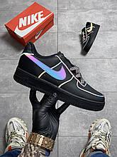 Nike Air Force Low Black Refkective (Чорний)