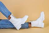 Черевики жіночі шкіряні білі демісезонні, фото 5
