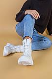 Черевики жіночі шкіряні білі демісезонні, фото 7