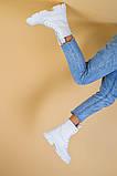 Черевики жіночі шкіряні білі демісезонні, фото 9