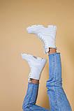 Черевики жіночі шкіряні білі демісезонні, фото 10