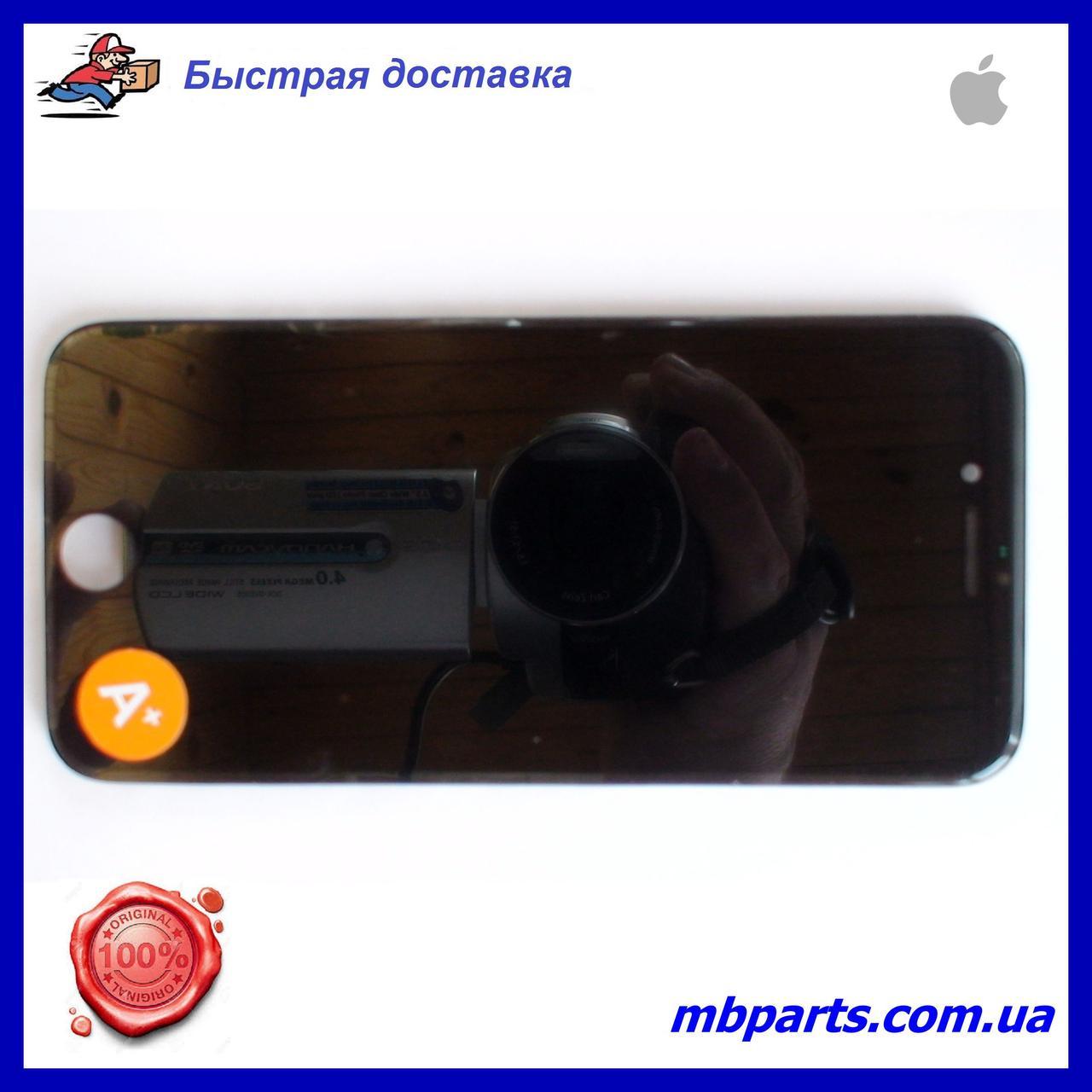 """Дисплей iPhone 8 (4,7"""") Black, оригінал з рамкою (відновлене скло)"""
