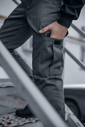 """Штани котонові чоловічі Intruder """"Baza"""" штани сірі осінні   весняні   літні, фото 2"""