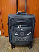 Ультра легкий большой тканевый чемодан на 4-х колесах Snowball 91703 (ФРАНЦИЯ)