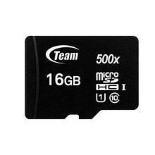 Карта пам'яті Team Group Micro SD 10 Class 16 GB Чорний