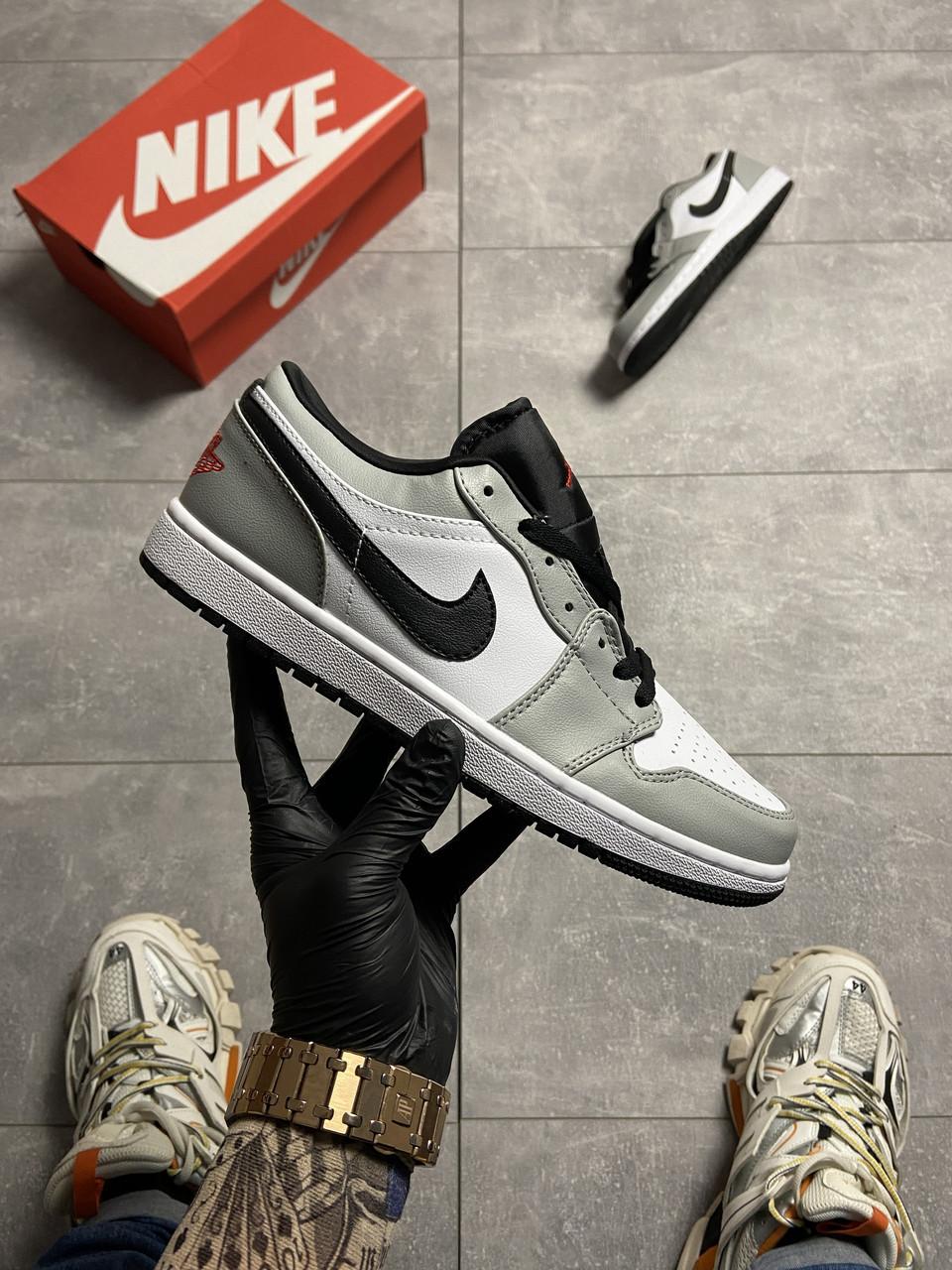 Nike Air Jordan 1 Low Grey White (Сірий)