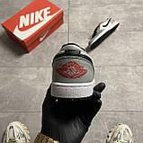 Nike Air Jordan 1 Low Grey White (Сірий), фото 2