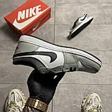 Nike Air Jordan 1 Low Grey White (Сірий), фото 4