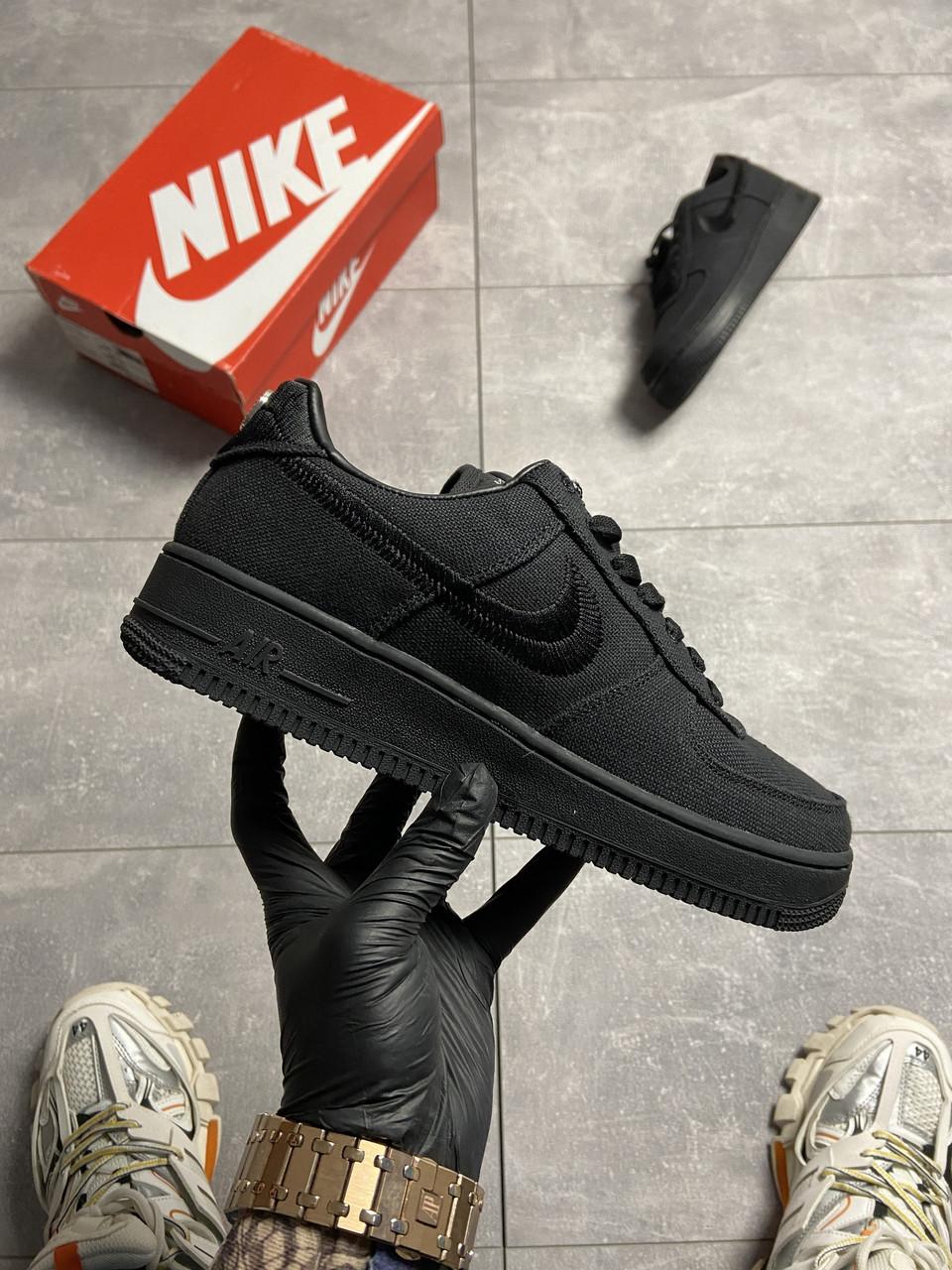 Nike Air Force 1 Low Stussy Black (Черный)