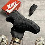Nike Air Force 1 Low Stussy Black (Черный), фото 3
