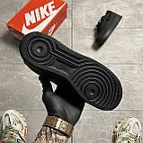 Nike Air Force 1 Low Stussy Black (Черный), фото 4