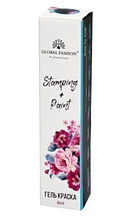 Гель фарба для стемпинга і китайської розпису Global Fashion №6,світло розовый8 мл