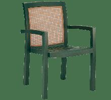 Кресло для дачи сада Papatya Вира пластик с текстурой под дерево до 200 кг нагрузки зеленый