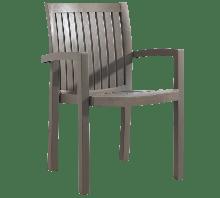 Кресло для дачи сада Papatya Нета пластик с текстурой под дерево до 200 кг нагрузки серо-коричневый