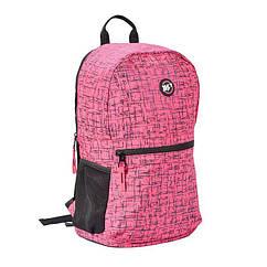 Рюкзак YES R-09 Сompact Reflective рожевий, 558506
