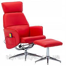 Крісло Відпочинкове з масажем та підігрівом + підніжка