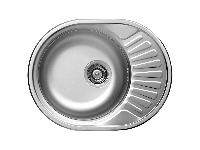 Кухонна мийка Kuchinox NORMAL 1-камерна с крилом, 570х450х160 мм, виконання сатин, фото 1