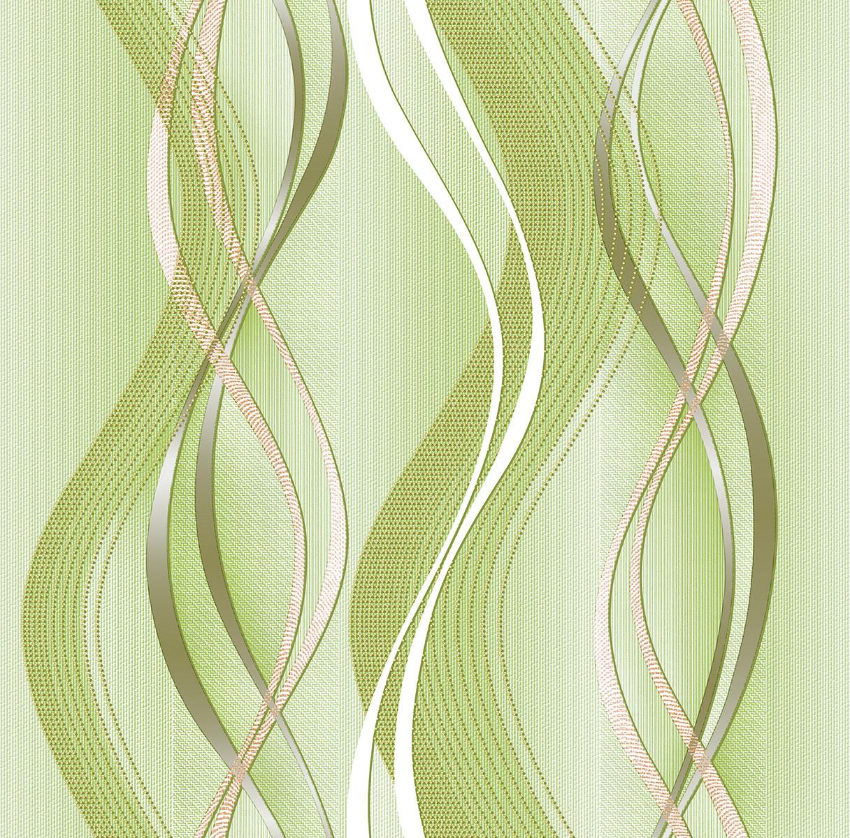 Шпалери Континент паперові дуплекс Ріана зелений 073