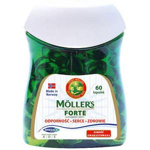 Рыбий жир в капсулах Forte Moller's, 60шт.