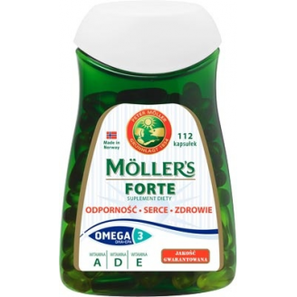 Рыбий жир в капсулах Forte Moller's, 112 шт, фото 2