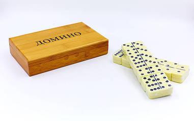 Домино в бамбуковой коробке (19,5 x 12 x 4 см) IG-1247