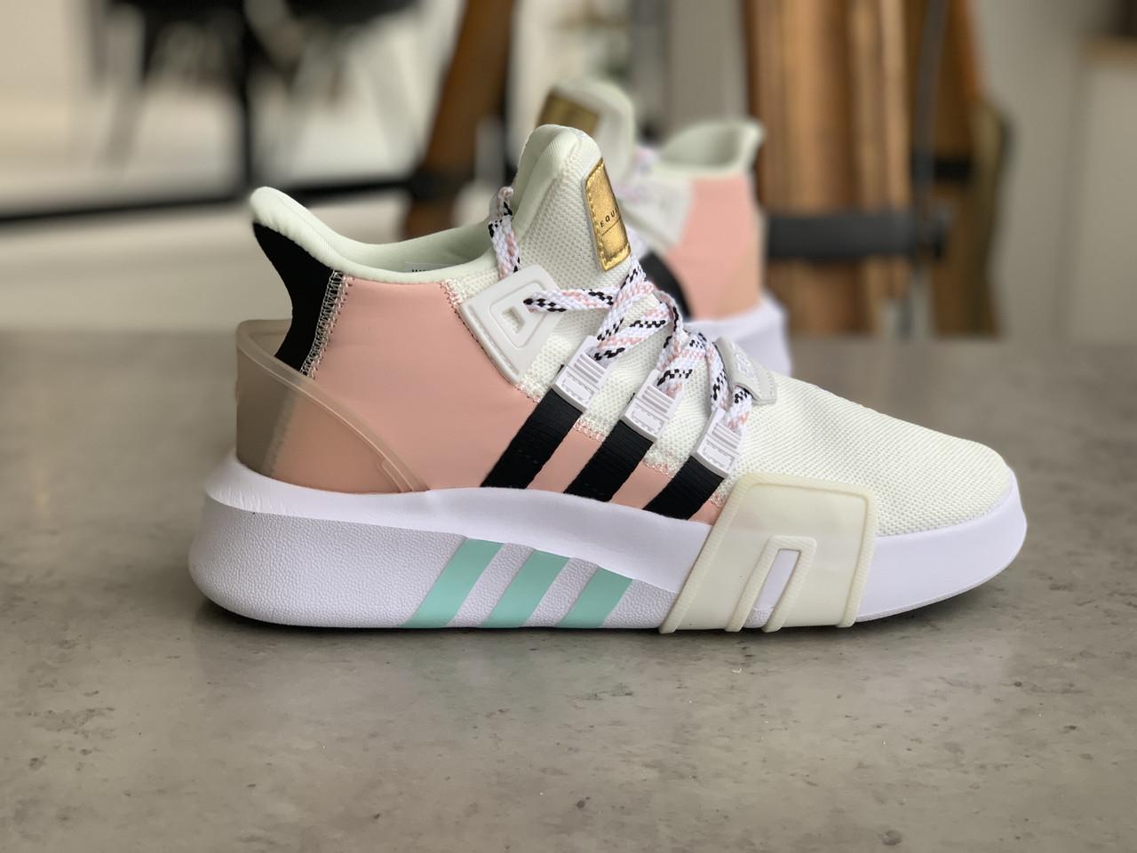 Женские высокие кроссовки Adidas EQT Bask Adv Адидас Ект Баск Белые