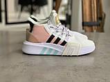Женские высокие кроссовки Adidas EQT Bask Adv Адидас Ект Баск Белые, фото 3