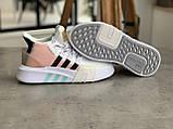 Женские высокие кроссовки Adidas EQT Bask Adv Адидас Ект Баск Белые, фото 4