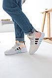Женские высокие кроссовки Adidas EQT Bask Adv Адидас Ект Баск Белые, фото 5