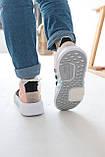 Женские высокие кроссовки Adidas EQT Bask Adv Адидас Ект Баск Белые, фото 8